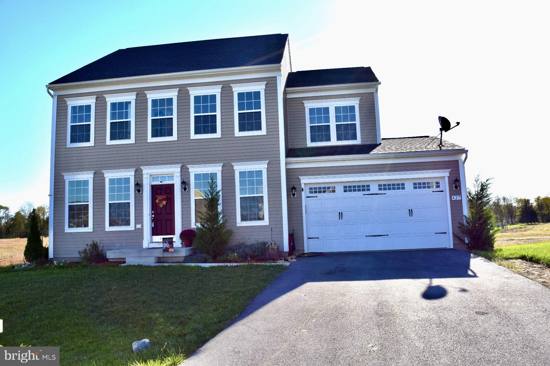 Only a few years old this Beautiful Home that greets you with Hardwood Floors throughout the main level, right into your upgraded Kitchen! The Kitchen offers Quartz Counter Tops, Upgraded Kitchen Cabinets, Upgraded Stainless Steel Appliances, 5 Burner Gas Range, Kitchen Island, and a Tile Back Splash! Upstairs offers 4 Spacious Bedrooms, 2 Full BA's and a very convenient Laundry Hook up. Upgraded Master Suite w/ Deluxe Master Bath. Each BR has a nice walk in closet and is already been pre wired for the ceiling fans of your choosing. Downstairs offers a partially finished basement that adds tons of room for entertaining. Some of the extras this home has to offers are Dual 2 Zone HVAC System, Upgraded 2 Car Garage Door, Rough in for Bathroom in Basement and much more. Schedule your showing today!
