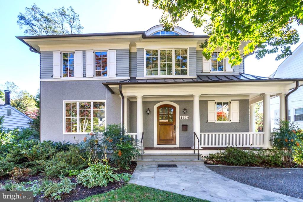 ***Open Sunday, Nov 17th, 2-4pm*** This exceptionally well-built residence by award-winning PKK Builders & designed by Studio Z Design Concepts (in 2010) is perfectly located within the Town of Chevy Chase and very close-in to downtown Bethesda.  The floor plan offers a graceful flow, -ideal for entertaining.  The home benefits from an amazing amount of natural light.  Luxurious amenities at every turn.  Exclusive parking spot by front porch & in front of garage.  Elevator shaft (currently extra closets).  The south-facing backyard is expansive, level, private & sunny.  The Town of Chevy Chase, a self-governing incorporated municipality, has comprehensive resident services complete with supplemental police protection, arborist, full town staff and numerous events for residents throughout the year.