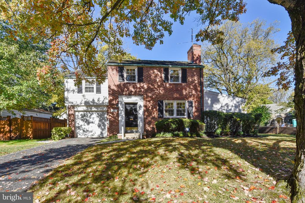 """Sturdy brick colonial located in a quiet setting yet close to shops, restaurants, grocery stores, transportation and more. Kitchen, bathroom and family room updates. Wood Floors just refinished. (Photos show old floors; please disregard.) Separate dining room. Powder room on main level. Hardwood flooring. Newly installed carpet in family room. Separate back yard entrance in basement with kitchen potential and full bath. Beautifully landscaped yard. Nearby Capital Crescent Trail, Bethesda Outdoor Pool, and the Cherry Trees in Kenwood at springtime! House Sold """"As Is."""" LA is owner."""