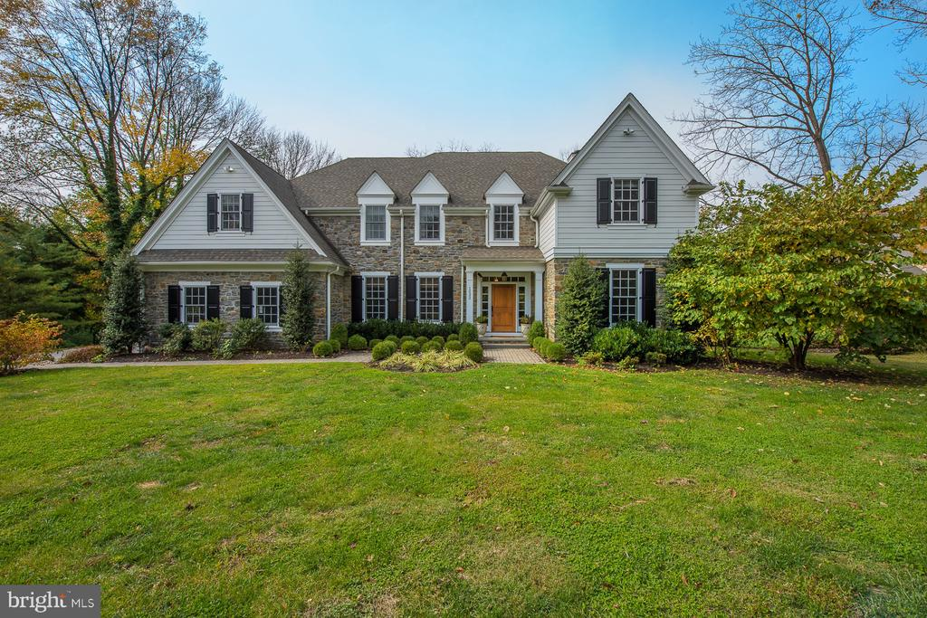 Welcome to 1532 W Montgomery Avenue, a four-year old classic center-hall colonial, constructed by Vaughan & Sautter Builders. Utilizing the most desired open floor plan, with sizable rooms and extensive finishes. Set back more than 300 feet from Montgomery Avenue, and surrounded by mature landscaping, the owner enjoys privacy and quiet. Enter from the front door into the spacious foyer, with the dining room to your left, the living room and office are set off to the right, walk straight through to open great room and kitchen area. The spacious kitchen has easy access to the three-car garage, mud room, large pantry and screened-in-porch. The open staircase provides easy access to the finished lower level and second floor bedrooms and laundry. The spacious master bedroom is accompanied by a gracious bath and large walk-in closets. The other four bedrooms are each accompanied by full baths. The finished lower level has hardwood floors, a full bath and plenty of extra storage. This property is easily accessible to the Villanova R-5 train station, Route 476 and all major roadways.