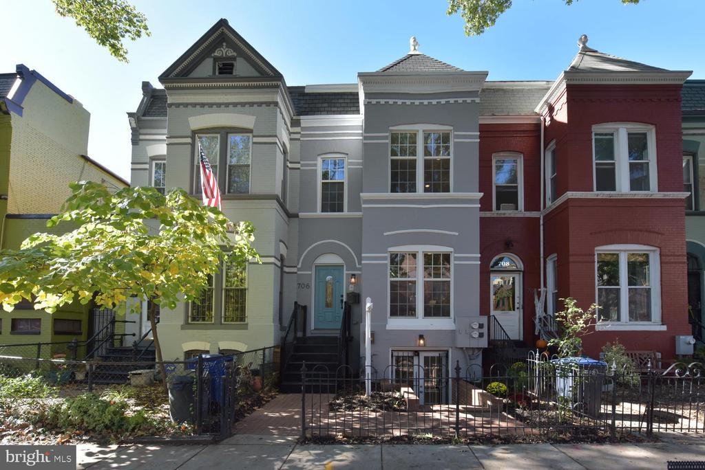 OH Sat 11AM-1PM Sun 1PM-4PM; Incredible opportunity in the red hot H Street Corridor to enjoy the ultimate urban lifestyle & build wealth while you do it. TRUE 2 UNIT PROPERTY WITH C OF O fully renovated in 2007 and smartly updated since including new roof in 2016. Upper unit is 1630 sq ft, 3BR/2.5BA beauty with expansive open concept main level with Brazilian Cherry Floors, gas fireplace, powder room and large kitchen with brand new Quartz counters, breakfast bar, and SS appliances. Private, fully fenced brick patio off the kitchen perfect for al fresco dining and outdoor entertaining. Upper level features large Master Suite, two additional bedrooms, hall bath and front loading washer/dryer. Lower unit is 815 sq ft, 1BR/1BA with French Door entry illuminating open living area and recently updated kitchen with large island, ample storage and brand new SS appliance suite. Large bedroom, full bathroom and washer/dryer make this the ultimate, stable long term rental or highly lucrative short term rental. Live in one, rent the other or rent both thanks to C of O and ride the incredible development wave in the H Street Corridor. Endless options and all of them look great for your bottom line! 706 8th Street NE is centrally located at the midpoint of the H Street Corridor giving you easy access to it all. .8mi to Union Station/Metro, 1 Block to Street Car, .2mi to Whole Foods, .8mi to Union Market and just blocks to every amazing restaurant, coffee shop, gym and nightlife destination you can imagine with more opening every month.