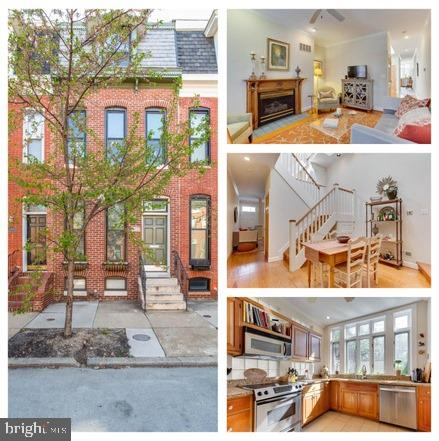 Morning sunbeams surround you at every corner in this city oasis. There is a 20 Ft. atrium that engulfs the home in natural light and makes this one of the most unique homes in all of Federal Hill.  The first level welcomes you with gleaming hardwood floors, a cozy fireplace for the upcoming chilly evenings,  a spacious dining room just begging for a dinner party, renovated powder room,  and a true chef's kitchen with stainless steel appliances, granite counters, and  tons of updated cabinetry all overlooking the  incredible fenced patio with space for a lounge area and grilling area.  Just add some twinkle lights and a firepit and you will be making smores and memories galore!  Once you go back inside and go upstairs you truly begin to see how impressive the atrium is.  The skylights drench the home in sunlight and moonlight and enhance the beautiful woodwork on the staircase.  The bedrooms are all spacious with fantastic closet space and the 2nd level bathroom has been renovated in classic subway tiling with a new vanity and trendy wainscotting.  The 3rd level is the perfect master suite with true privacy and an en suite bathroom.  This home is truly not to be missed.  Start making memories today!