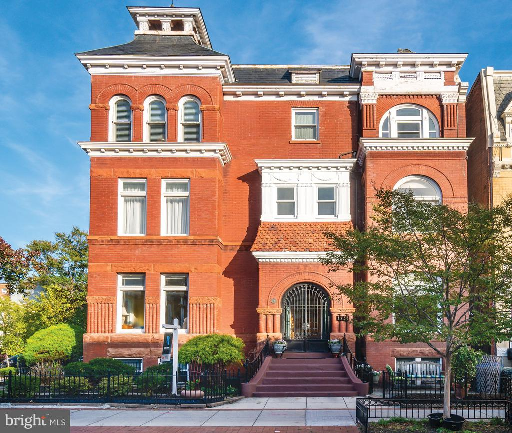 **OPEN HOUSE: SUN (12/15) 2-4PM** UNBELIEVABLE OPPORTUNITY IN DUPONT! This detached home on a double (triple?) lot is the crown jewel of Dupont Circle, with over 5,000 sq ft of living space and SIX parking spaces, and four beautiful units. Live in the sprawling, sun-drenched, luxurious, enormous two-level corner unit in this detached Dupont Mansion and rent THREE other units for over $140k per year, or rent them all out for about $225k per year, or convert to even more total units if you'd like to have even more income or to sell as luxury condos. RA-8 zoning allows any number of units to be created (subject to other limitations, of course). Light floods the home from three exposures, and each of the three lower units (2 1BR/1BA and 1 2BR/1BA) is in excellent condition for the highest income possible.