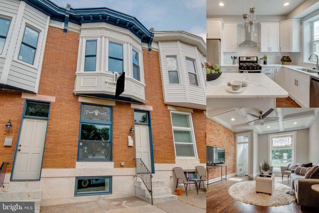 ACC Contracting, LLC delivers again! Fully renovated 10yr CHAP tax credit 4 bedroom, 3 bathrooms, PARKFRONT, with PARKING and rooftop deck w/ an inverted staircase and hallway interior access.  Sleek designs mixed with restored historic charm abound. Enter through the original vestibule into a completely open floor plan with exposed brick, coffered ceilings, beautiful original hardwood floors and recessed lighting. Upgraded gourmet kitchen with white cabinetry, stainless steel appliances, island with granite countertop overhang, jar pendant lighting and built-in stainless convection microwave.  2 bedrooms in fully dugout basement with 8ft ceilings and tons of natural light. One ensuite on second floor. Master suite features classic bay window bumpout, tray ceilings, and luxury bathroom. Amazing park and city skyline views from EVERY level...even your front stoop! Oversized rooftop deck wired for electric and capped with composite rails.  This home is a dream!