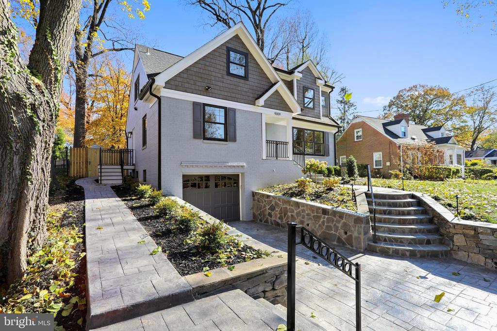 """This classic home has been reborn to meet today's modern living. The open sun-filled floor plan is ideal for entertaining as well as comfortable family living. Minutes to 495. Walk to the """"Purple Line,"""" shops and dining. Go for a run or bike in Rock Creek Park. Enjoy outdoor living on the fantastic concrete stamped patio. Fenced yard has plenty of room for """"corn hole!""""  Work from home in the first floor office/bedroom with adjacent full bath and mud room. Host holiday meals in the banquet size dining room. Gather around the gorgeous island in the designer Kitchen. Retreat to your Master Suite with luxurious bath featuring white Carrara marble tiles, free standing soaking tub, double sink vanity with center tower and stunning shower. Young and old alike will enjoy the """"secret"""" room in the second bedroom. Gas remote controlled fireplace provides a cozy atmosphere in the lower level game room."""