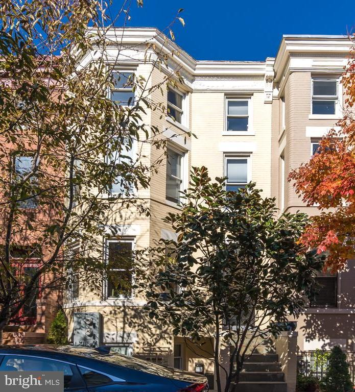 Amazing buy-and-hold-Investment opportunity in DuPont Circle! This home is completely leased and will continue to generate great rent. All leases are long term and will transfer to new owner.  This updated three level home has everything a landlord would want: an English basement with 2 bedrooms and 2.5 bathrooms, a 2 bedroom, 2 bathroom front facing unit with private rear deck and tons of natural light and a 2 bedroom, 2 bathroom penthouse style loft with spiral staircase and outdoor space! This home is truly plug and play, you won't have to do much to enjoy the fruits of this investment! Conveniently located between 17th and 18th Street- walking distance to tons of shops, restaurants, bars and shopping. Walk to Dupont or  U Street Metro.