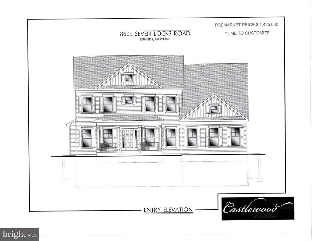 Castlewood Builders is ready to break ground  on another beautiful new state-of-the-art home, and there is plenty of time to customize to your specifications!  Located INSIDE THE BELTWAY, this is a fabulous opportunity to buy a BRAND NEW HOME at an incredible price!    Sited on nearly 1/2 acre, the interior will offer over 5,000 square feet on three levels of finished space.  Coffered and trayed 9 and 10 foot ceilings, custom trim, granite or quartz counter tops, professional-series appliances and designer vanities and tiles are just a glimpse of the fine detailing that will enhance the beautiful spaces.  The floor plan features 5 bedrooms, 4.5 baths, a main-level study, a butler's pantry, au-pair/in-law suite in the lower level....everything on the luxury home buyer's wish list!   The property is within the highly sought-after Winston Churchill High School cluster, with easy access to commuting corridors and airports.    Don't miss this great opportunity, call today!