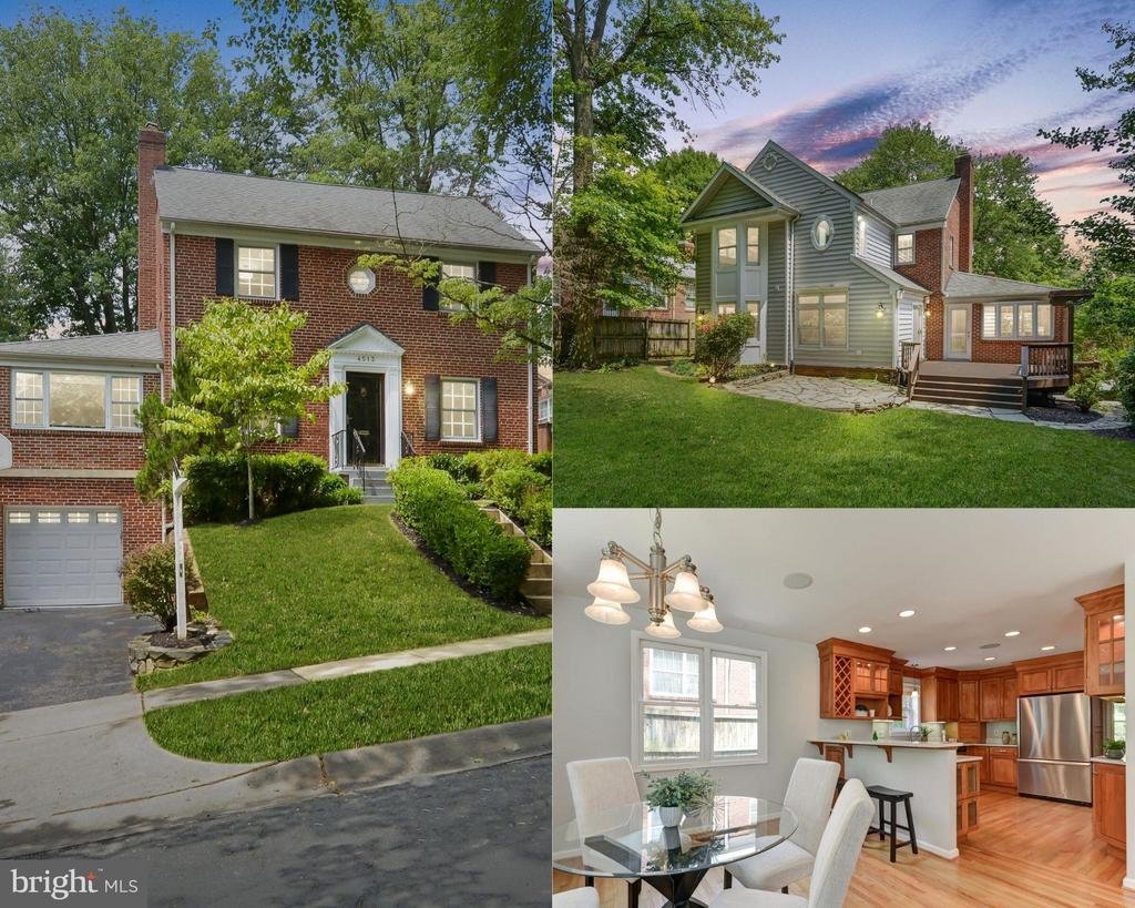 """Rarely available, move-in ready, red brick colonial 4BR/3.5BA that you have to see to believe! Sited on one of the best streets in Parkwood, this home offers a key close-in Bethesda/Kensington location with easy access to downtown Bethesda, NIH, Grosvenor Metro, Pike & Rose, 495, 270 and Redline Metro.~Featuring a generous living room with gas fireplace adjoining to a first floor den as well as the family room addition. From the family room extension you will find seamless flow to an updated eat-in kitchen with new Quartz counters, high-end~appliances, 40"""" cabinets, breakfast bar and wood floors. Four true bedrooms are found on the upper level, including the owner's suite complete with full bath and vaulted ceiling that overlooks the private backyard. The lower level has a rec room w/ built-ins,~ updated bathroom suite, and a space perfect to serve as a mudroom off the garage. One of the two HVAC systems was replaced in 2018.~Enjoy the Rock Creek Trail or commute to work in your backyard. Exterior spaces ideal for entertaining~ with freshly sealed deck, stone patio, plantings, shed and full fenced yard. Parkwood Elementary (a few blocks away) and WJ High School cluster."""