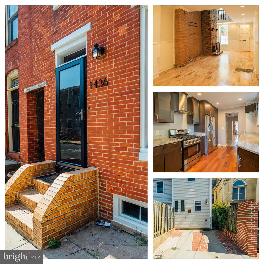 Stunning home with off street parking on a picturesque block of Federal Hill, available for immediate move in. The two story living room welcomes you in with lots of light, which bounces off the hardwood floors. The focal point of the living room is the handsome fireplace, which is surrounded by exposed brick walls. The kitchen was custom built for the space and features a wine fridge, 42 inch wood cabinets, granite counters, hardwood floors, range hood vent, and stainless appliance including a gas stove. In the rear of the home you~ll find a half bathroom and washer and dryer. The second floor master bedroom has built in wood storage and an en-suite bathroom. The two additional carpeted bedrooms are large enough to accommodate king beds. Den on the 3rd floor is perfect as a gathering place before you head to the roof deck, that features a pergola, which will shade you in the summer. Unfinished basement perfect for storage. Owner is leaving 3 tv~s for your enjoyment! Close to free bus line, city bus stops, MARC train, grocery, restaurants, bars, public parks. TERMS:$35 per adult applicant to apply, pets case by case, $50 move in fee, first month~s rent and deposit due upon signing lease, owner requires professional cleaning once a month. MINIMUM REQUIREMENTS FOR RENT: 650+ credit score and household income must exceed $165,000.