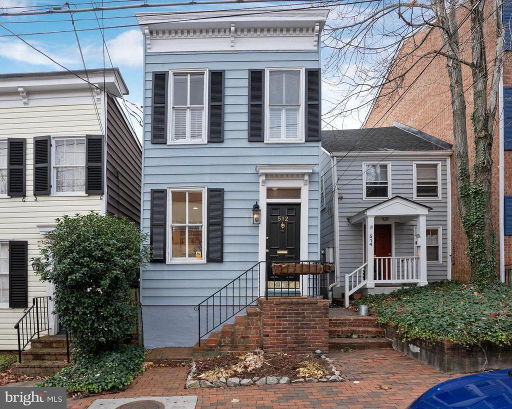 Open Sunday 1-4pm! Quintessential Old Town home built in 1880! Fully detached two bedroom, two bath home with true master suite makes this a rare opportunity. Updates include gorgeous white kitchen with marble counter, stainless appliances and farm house sink. Both full baths have been well updated to preserve the style of yesterday while including the conveniences of today. The list of updates goes on, new HVAC, new pine hardwood floors, new lighting and interior paint. Private parking spot in rear connects to spacious back yard. Just 5 blocks to King Street, 4 blocks to the Potomac River and in the heart of everything Old Town!