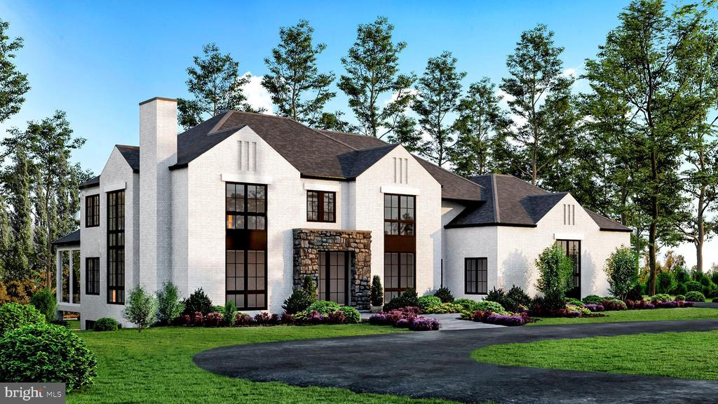 "Dramatic, ""One of a Kind"" New Home Under Construction. Fall 2020 Delivery! Beautifully sited on 1.24 Private acres backing to woods; this extraordinary Custom home boasts over 10,000 Sqft and is a truly unique and tasteful blend of ""soft contemporary""/""transitional"" styles. Dramatic walls of glass and soaring ceiling heights are punctuated throughout w/ exquisite finishes and attention to detail. The Main Level features a Gourmet Kitchen w/ top of the line appliances, formal Living Room & Dining Room, a Main Level Bedroom and Full Bath, a spacious Family Room with a pass through Fireplace to the private Library. A lovely Screened Porch overlooks the expansive Terrace that spans the rear of the home. The Upper Level offers a gorgeous Master Suite with a Deluxe Master Bath and 2 grand walk-in closets. The Upper Level also features 3 additional bedrooms, each with en-suite baths and walk-in closets. The bright, walkout lower level includes a Wine Cellar, Media Room, Bar, 2 Full Baths, Bedroom, Fireplace & Covered Patio. Other amenities include, an Elevator, Whole House Generator, 3 Car Side Load Garage. NOW IS THE TIME TO CUSTOMIZE YOUR DREAM HOME! Call L/A for details."