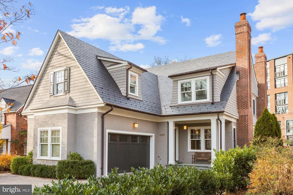 Nestled just steps from Bethesda Row, this home offers an unparalleled level of architectural excellence and modern luxury. Built in 2014, this home is the personal residence of Barry Zuckerman of Award-Winning Zuckerman Builders. From the slate roof and copper gutters, to the wide plank, bench finished, rift and quartered white oak flooring, from the unlacquered brass Baldwin hardware and hinges throughout to the elevator and 5 zone high-efficiency HVAC systems, it`s clear that no detail has been compromised or overlooked. The main level features a gorgeous family room with built-in bookshelves, a coffered ceiling, large french doors, 2 masonry fireplaces, a formal dining room with a convenient butler`s pantry, and an elegant wood-paneled library. The gourmet, eat-in kitchen is sure to draw out your inner chef with top-of-the-line appliances, custom cerused oak cabinetry, limestone flooring, and exquisite quartzite countertops.   There are four bedrooms on the 2nd level, each with ensuite baths, including the luxurious master suite with his-her water closets, an oversized walk-in dressing room, and a spa-like soaking tub in addition to the glass-enclosed shower. The lower level includes a large recreation room, a full bath, potential wine cellar, home gym and fifth bedroom and large mechanical room for additional storage. The landscaped back yard is perfect for outdoor entertaining and includes a flag-stone covered porch with built-in speakers.  The property is delineated by a beautiful stone retaining wall that provides direct access to Bethesda Row and the Crescent Trail.  On a ~walkability~ scale of 1-10, this home is an 11.