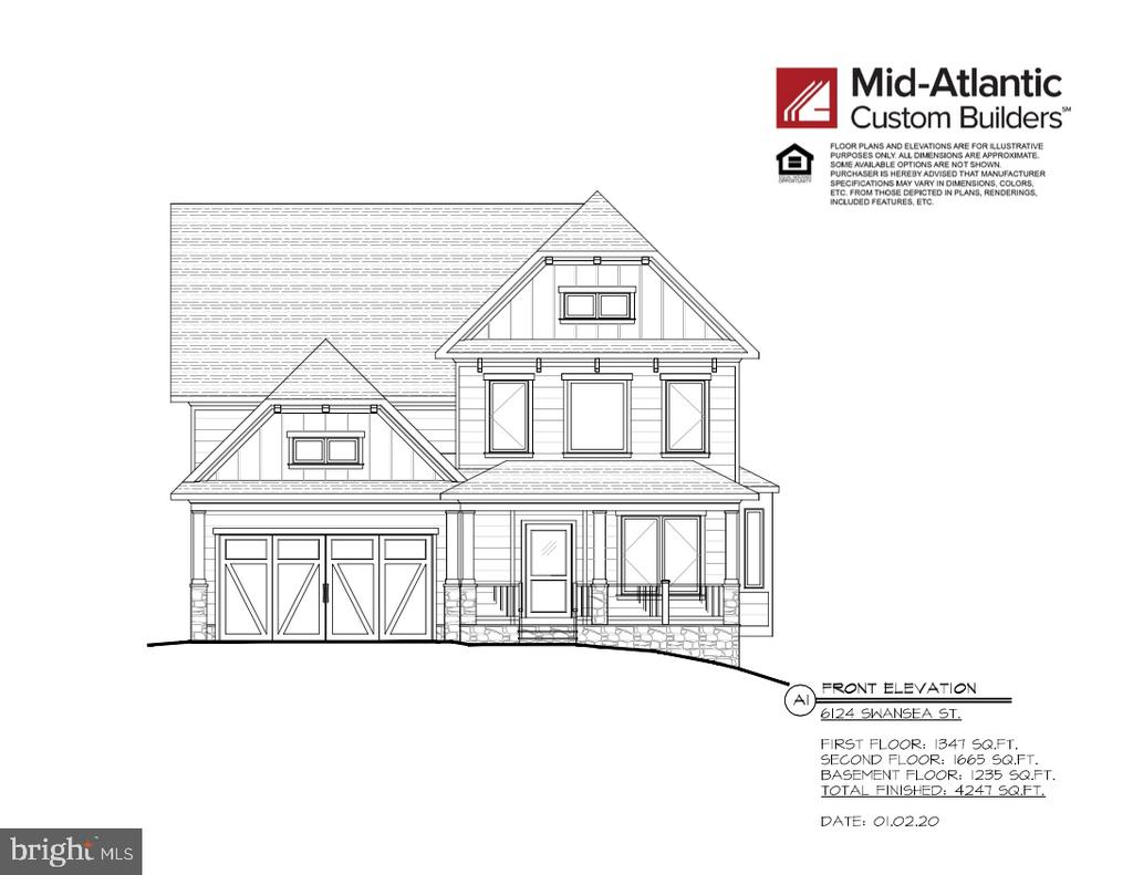 CUSTOMIZE YOUR NEW HOME! The Carolyn Homes Team & Mid-Atlantic Builders are eager to present this gorgeous home, featuring 5 bedrooms/4.5 bathrooms on three levels, w/ 2-car garage, in the coveted Hillmead neighborhood & Whitman School District. The main level offers an open floor plan with  gourmet, eat-in kitchen, large family & dining room, study, and mudroom. Make your way to the upper level to find an expansive master suite w/ spa-like bath and large walk-in closets, laundry room, and three more bedrooms and 2 more baths. The lower level boasts a large rec room, storage space, and the fifth bedroom and fourth full bathroom. Don't wait on this one! Call for more details now! Home is scheduled for summer delivery.
