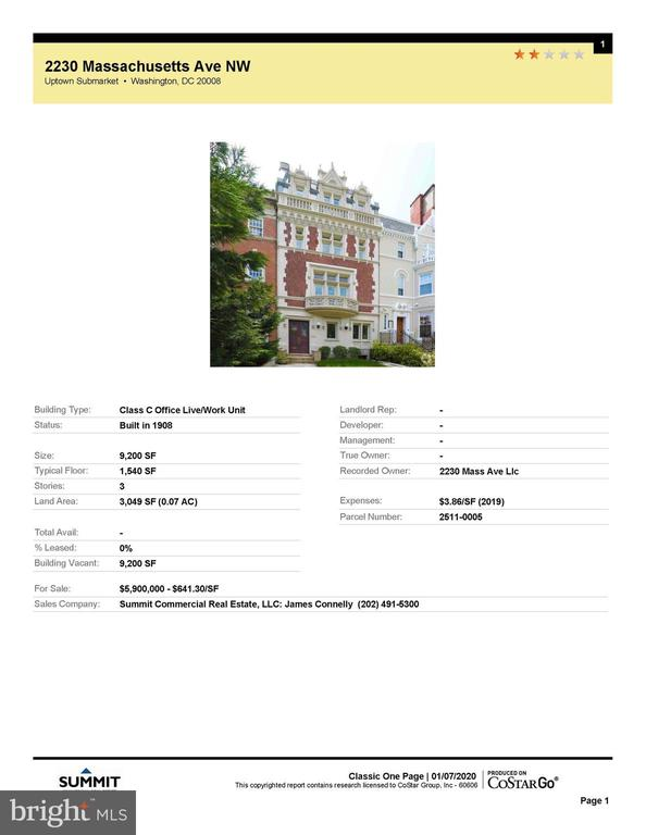 Ready to Occupy-Embassy Row MansionComplete elegant renovation with elevator.Ideal for Live-Work uses including diplomatic.Tours by appointment~.TEXT Showing Contact