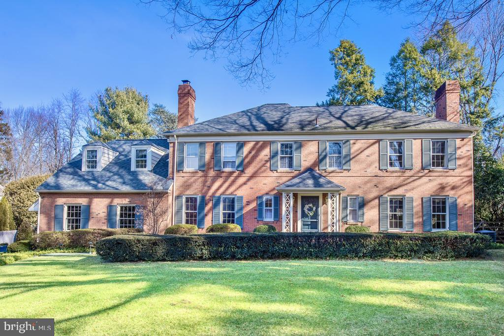 Welcome to 1110 Ashbridge Road, a stately brick colonial home, built by Sherman Reed and located in one of Lower Merion's most desirable neighborhoods.  This lovely home is in excellent condition and features a professionally landscaped property and a very quiet street with easy access to schools, colleges and commuter trains,  and Ashbridge Park.   Every room shows the quality and charm of this home, with gleaming hardwood floors throughout, very spacious rooms with deep windows, doors to flagstone patio and covered porch from LR , DR and FR, custom millwork, lovely fireplaces in LR and Den, and beautiful FR addition designed by Ann Capron which has created the large Kitchen/Family Room living space that is so desirable in today's lifestyle.  Relax in the charming Den that offers a brick fp, built-ins with wet bar, bookshelves and cabinetry which could also be a perfect home office.  Fall in love with the huge Laundry Room/Mudroom that will meet all your needs! Second floor also has hardwood floors throughout with carpet over wood in BRs.  Five very large BRs and four full BAs provide ample living space, and each BR enjoys wonderful closet space, with two linen closets in the hallway.  MBR features two walk-in closets and access to two BAs, one of which is a connecting BA.  Fifth BR has ensuite BA  and use of backstairs to Kitchen, and is an ideal guest suite.  Stairs to full attic with large storage closet.  Basement is partially finished with large rec room, and great additional space for storage.   Beautiful backyard is secluded by mature trees and is  fully fenced.  Heated pool with brick pool deck fits gracefully on one side of the yard and works smoothly with flagstone patios and covered porch.  Natural gas line to the house serves to heat the pool.  This wonderful home in Lower Merion offers a rare opportunity for those seeking a quality home in immaculate condition, a beautiful and quiet neighborhood,  an award winning school district, and a central locatio