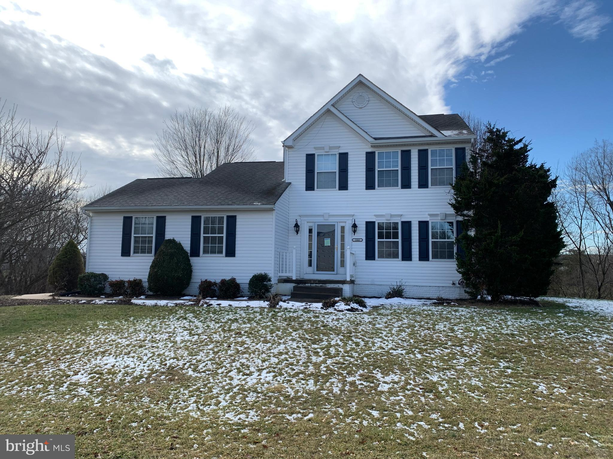 Great location! Colonial style home located in the highly desired Stonebridge SD. Home features fresh paint and new flooring, 3BRs, 3FBs, 1HB, fireplace in the living room, partially finished basement, 2 car garage and small back patio. Home backs to trees with a view of the pond.