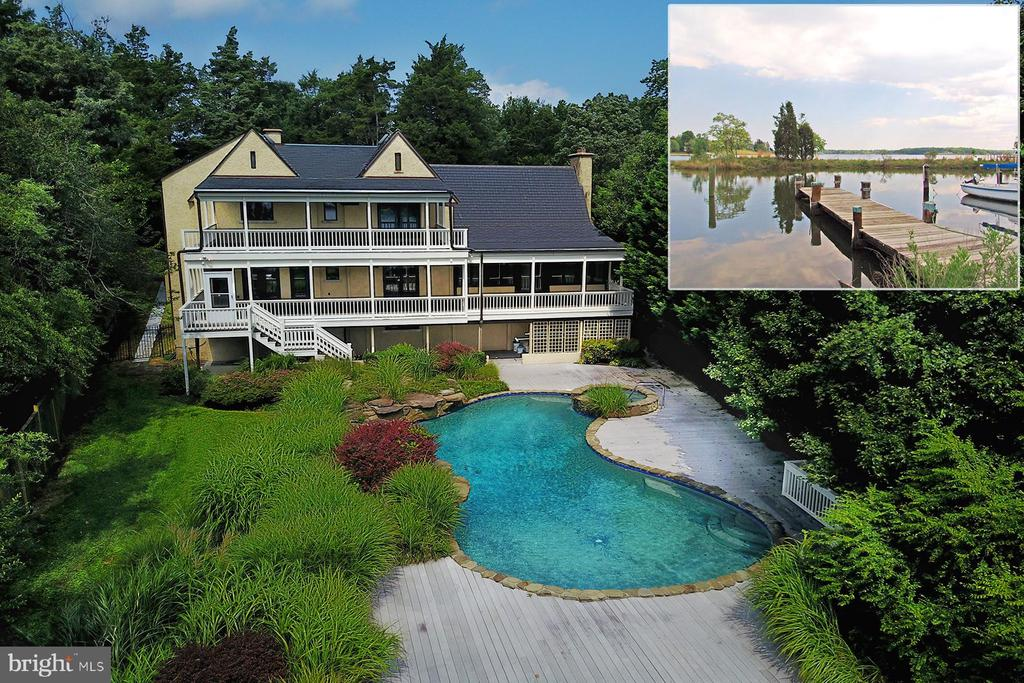 OWNERS ARE READY TO SELL! Live the luxe waterfront lifestyle in this stunning Wild Rose Shores home. Totally private, heated waterside pool with integral spa and waterfalls. Spectacular views down the South River, a private pier on a protected cove, and three levels of waterside porches. Dramatic living room with 30 ft ceiling and hand-carved moldings. Formal dining room overlooking the pool and river. The gourmet kitchen with granite countertops and stainless steel appliances surrounds a large center island with breakfast bar. The great room with gas fireplace opens to the waterside porch. The huge master bedroom has water views, a private deck and 2 walk-in closets. Spa-like master bath with marble counters, jetted tub, and oversized steam shower. Four additional bedrooms, each with a luxurious bathroom. Spacious game room with gas fireplace and two laundry centers. Fully fenced yard, in-ground sprinkler system, and oversized 2-car garage with epoxy floor complete the package. Located minutes from Route 50 and downtown Annapolis.