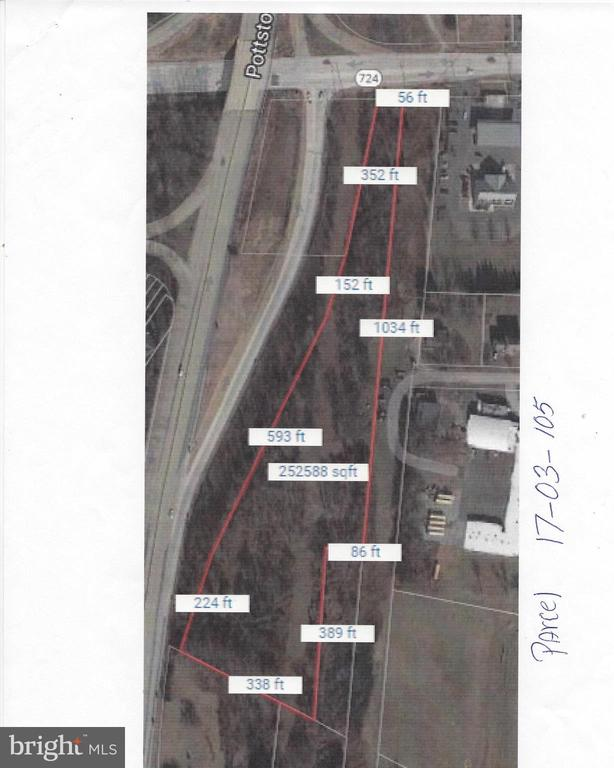 There are 3 parcels included in this property sale.  17-03-0103 (383 W Cedarville Rd.), 17-03-0102 (313 W Cedarville Rd. 1.7000acres taxes $6616) 17-03-0105(280 E Schuylkill Rd. 5.6800 acres $4490 taxes). This is zoned Town center.  Township will consider a change to C1 or C2, if requested by Buyer.  Corner location, but can only be accessed via E. Cedarville Rd.  Total of all three parcels is approx. 10 acres, of which 5 acres is fairly level.  Property is 1500 ft. South of intersection of Rt 422 and Rt 100.  Seller will consider selling the corner parcel separately.  The three buildings on the property have no value, they are completely gutted.Total taxes for all three parcels are $22597.00