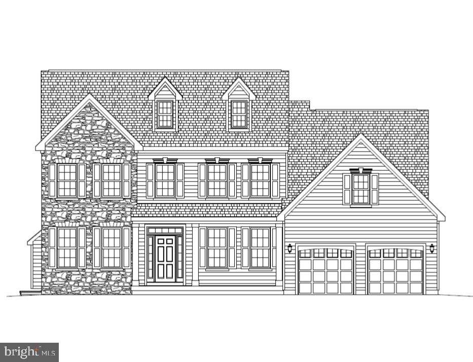 The Bristol Country on homesite #16 at Forty Nine Pines.  4 Bedrooms, 2.5 Baths, Study, full Basement and 2.5 car Garage.