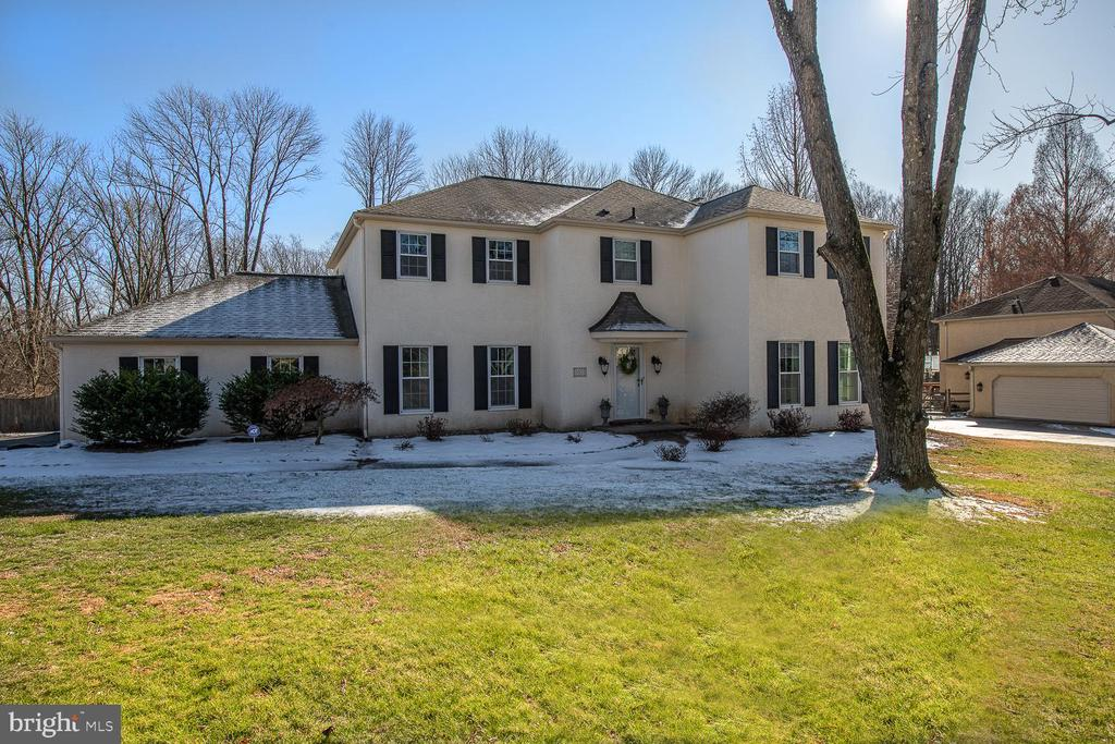 Welcome home to this beautiful and tastefully updated home located in the award winning TE School District with walking distance to Beaumont Elementary School.  Current owners have made many improvements including: remodel of family room; new lighting and electrical fixtures throughout; full interior paint; exterior landscaping; and much more. This 5 Bedroom 2 and 1/2 bath home awaits a new owner who will fall in love with the many features this home has to offer. Enjoy entertaining on the oversized deck looking onto the  pool refurbished in 2015 with new tiles, painted and turned into  a SALT WATER POOL. and meticulously maintained back yard set on over 1/2 private acres and backing to a conservation. Exterior painted in 2016. Enter the home to a spacious two story foyer that connects to the living room and dining room areas. The first floor has an incredible open floor plan with the dining room and family room both opening to the large eat-in kitchen with granite counter- tops. The family room has a brick fireplace and large windows that look out to the serene landscape of the backyard.  Mud room is off the kitchen and leads to the attached two car garage as well as deck access. Second floor has five bedrooms, including a secluded master bedroom with a completely updated master bath and walk-in closet. Four bedrooms or three and one office provides flexibility for a growing family and share a beautiful updated bathroom and second floor laundry. A bright and finished walk-out basement completes the lower level. Stucco Inspection report available. Easy access to 252, shopping, restaurants and the Paoli train station with direct access to NYC Penn Station.