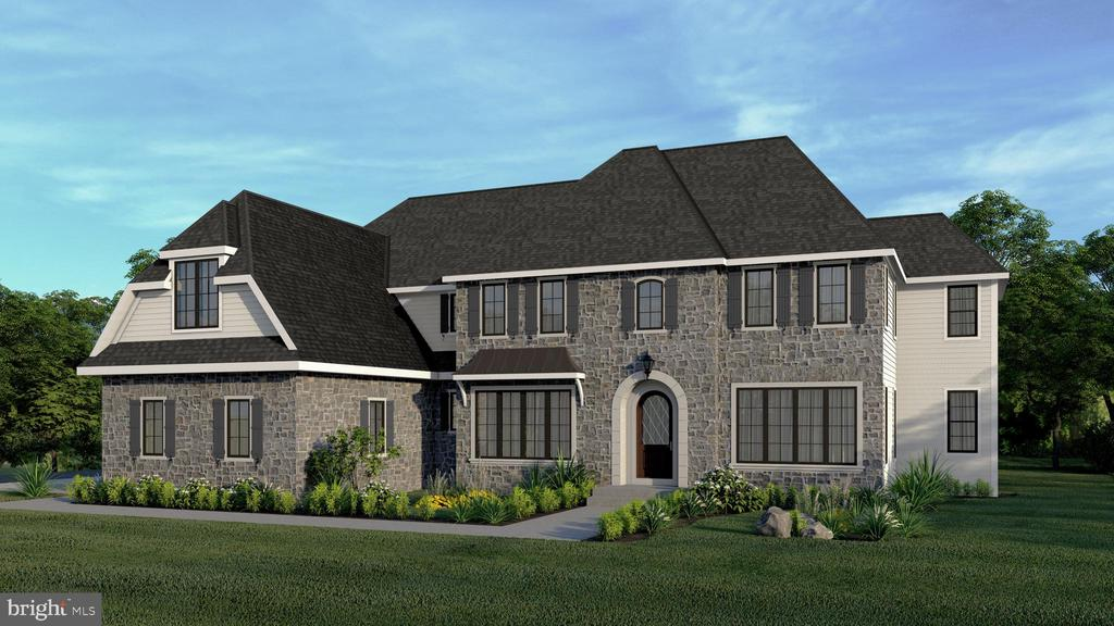 An extraordinary new home is currently under construction in an ultra-convenient, established Main Line Northside Bryn Mawr location in a highly desirable  Lower Merion township neighborhood.  Established Main Line builder/developer Vince D'Annunzio of Vintage Development will execute the thoughtful design, blending the unique architectural features with cutting edge finishes that he has carefully selected to compliment the French country style home.   There are over 4,900 square feet of finished living space included on two floors, with another 1,000 SF of finished, walk-out lower level space included in the standard features of the home.  It all begins with the land;  the established,  partially wooded and perfectly rectangular lot is over 1.1 acres and 340 feet deep, providing its owners with privacy and quiet enjoyment. There is ample space for optional outdoor improvements like a swimming pool or other creative hardscaping ideas that could be incorporated into the project, especially at this stage of construction.