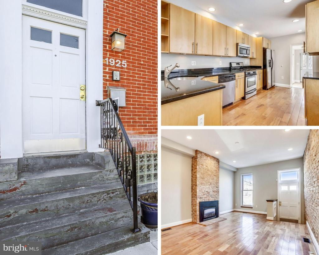 Remarkable rowhome w/ over 2600 sq ft of premium finished living space. Highlights include parking pad, roof-deck and proximity to Johns Hopkins. Features include 3 bedrooms above grade each w/ own bath, main lvl 1/2 bath, bonus club room w/ wet bar leading to roof-deck, hardwoods, gourmet kitchen, exposed brick, great closet space, ceiling fans, private patio off kitchen, custom fabricated staircase, great natural lighting, custom tiling and much more!